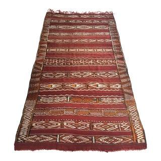 Vintage Hand Woven Moroccan Kilim Rug - 5′8″ × 10′9″