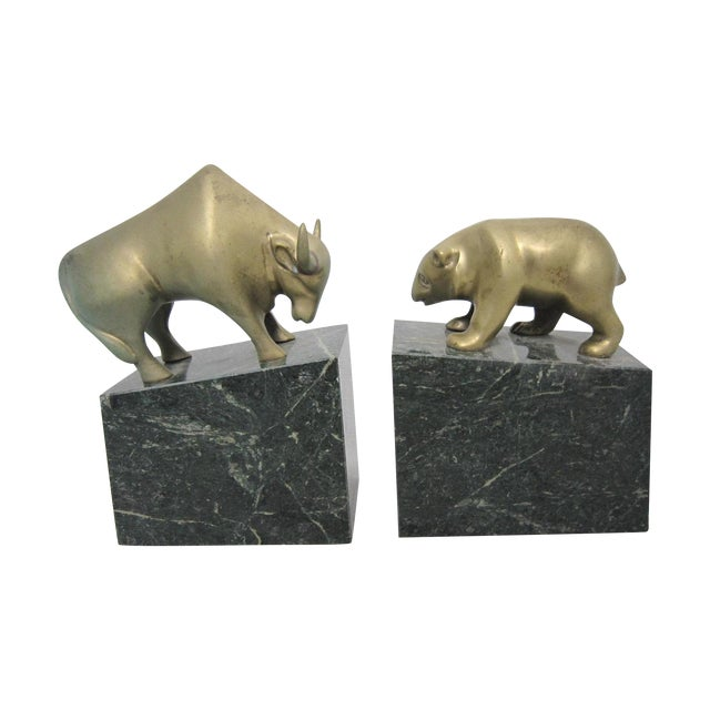 Bear And Bull Bookends Pair Chairish