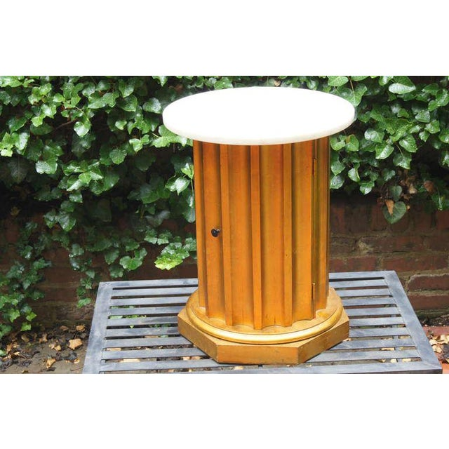 Marble Column Side Table - Image 4 of 11