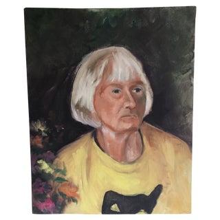 Portrait of a Solemn Older Lady