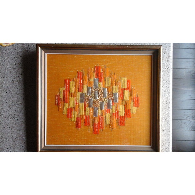 Mid Century Abstract Textile - Image 2 of 3