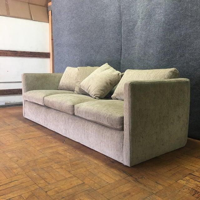 Beige Curved Back Sofa Chairish