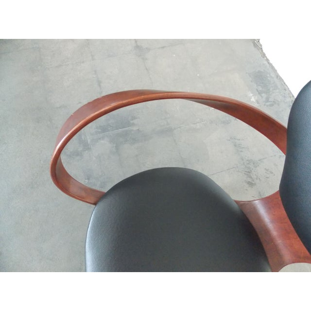 Bentwood Pretzel Arm Chairs - A Pair - Image 8 of 10
