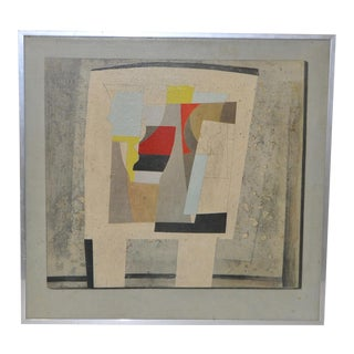Vintage Abstract Oil Painting C.1950s to 1960s