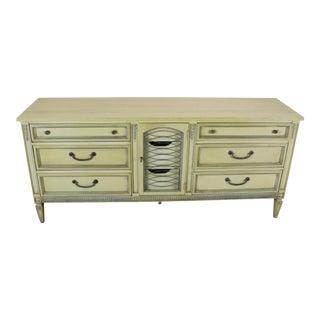 Mid Century Neoclassical Dresser, Vintage Dresser, Green Dresser, French Style Dresser