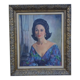 1962 Oil Portrait Painting by Romi Bonyaer.