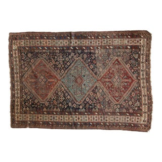 "Antique Kamseh Carpet - 6'1"" x 8'3"""