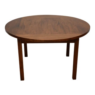 Round Walnut Occasional Table