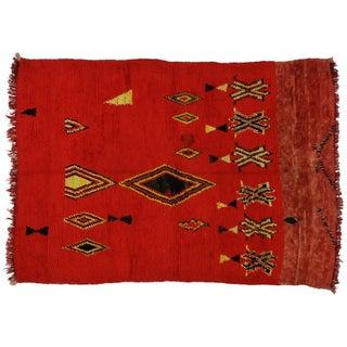 Vintage Moroccan Rug - 5′10″ × 8′2″