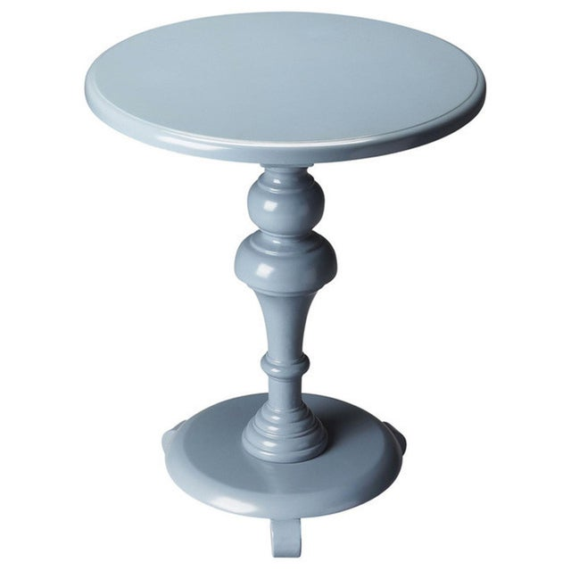 Butler Specialty Nicolet Glossy Wedgewood Pedestal Table - Image 4 of 4