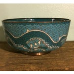 Image of Antique Cloisonne Bowl Featuring Chinese Dragons