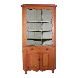 Pennsylvania Pine Open Front Corner Cupboard