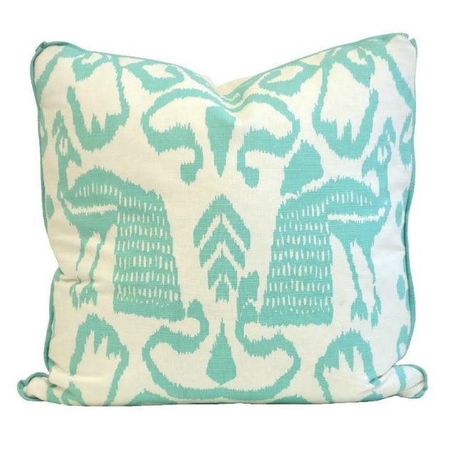 Aqua Bali Isle Linen Pillows- a Pair - Image 6 of 7