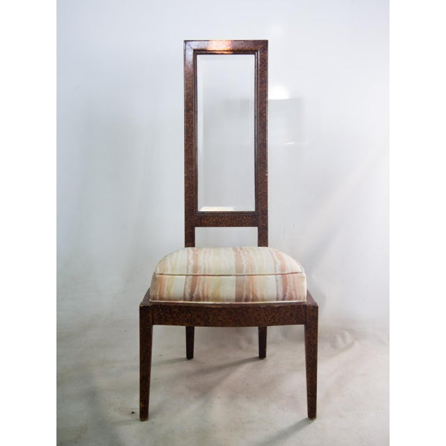 Lucite and Birdseye Maple Veneer Mid-Century Modern Dining Chairs - Set of 8 - Image 5 of 11