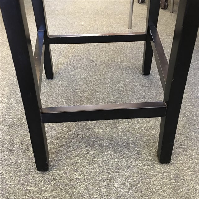 Black Button Back Barstools - a Pair - Image 8 of 9
