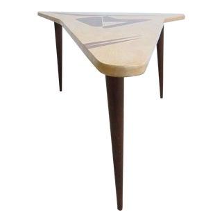 Custom Mahogany Boomerang Mid-Century Coffee Table