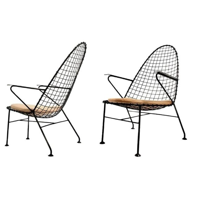 Italian Wire Chairs - A Pair - Image 1 of 4