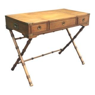 Vintage Heritage Brass Inlayed Campaign Vanity Desk