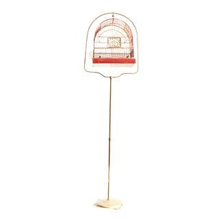Vintage Crown Birdcage & Stand