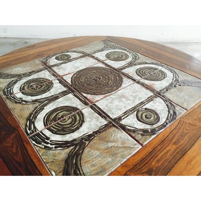 Vintage Danish Rosewood & Tile Top Coffee Table - Image 5 of 9