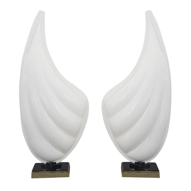Pair of Rougier Resin Shell Lamps - Image 1 of 5