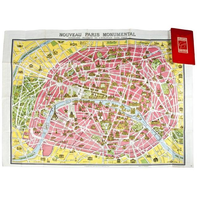 Vintage Guy Paris Monument Map - Image 5 of 6