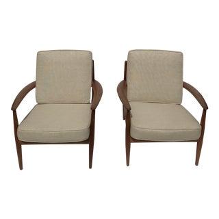 1960's John Stuart Danish Modern Armchairs - Pair