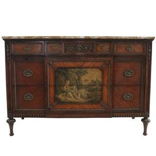 Louis XV Marble & Walnut Dresser