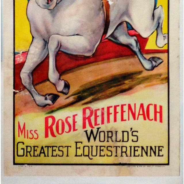 """""""Miss Rose Reiffenach"""" Circus Poster - Image 4 of 5"""