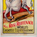 """Image of """"Miss Rose Reiffenach"""" Circus Poster"""