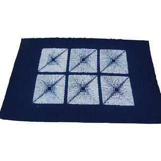 Indigo Tie Dyed Textile