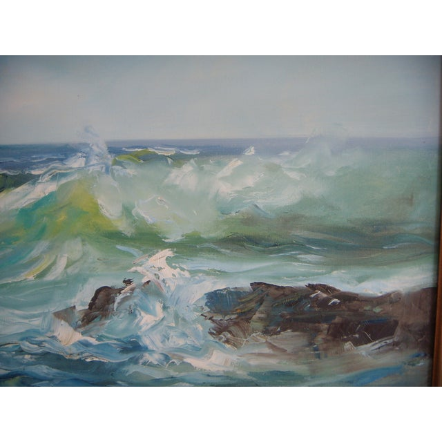 Pacific Ocean Breakers Oil Painting - Image 2 of 6