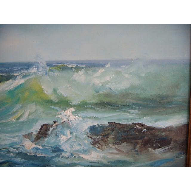 Image of Pacific Ocean Breakers Oil Painting