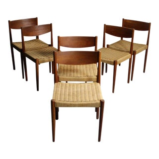 Frem Rojle Danish Modern Teak Dining Chairs - Set of 6
