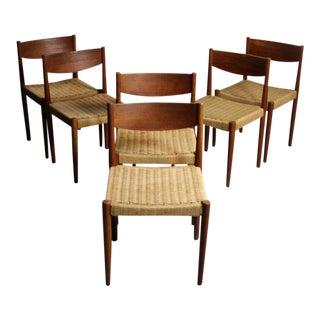 Frem Rojle Danish Modern Teak Dining Chairs - Set of 6