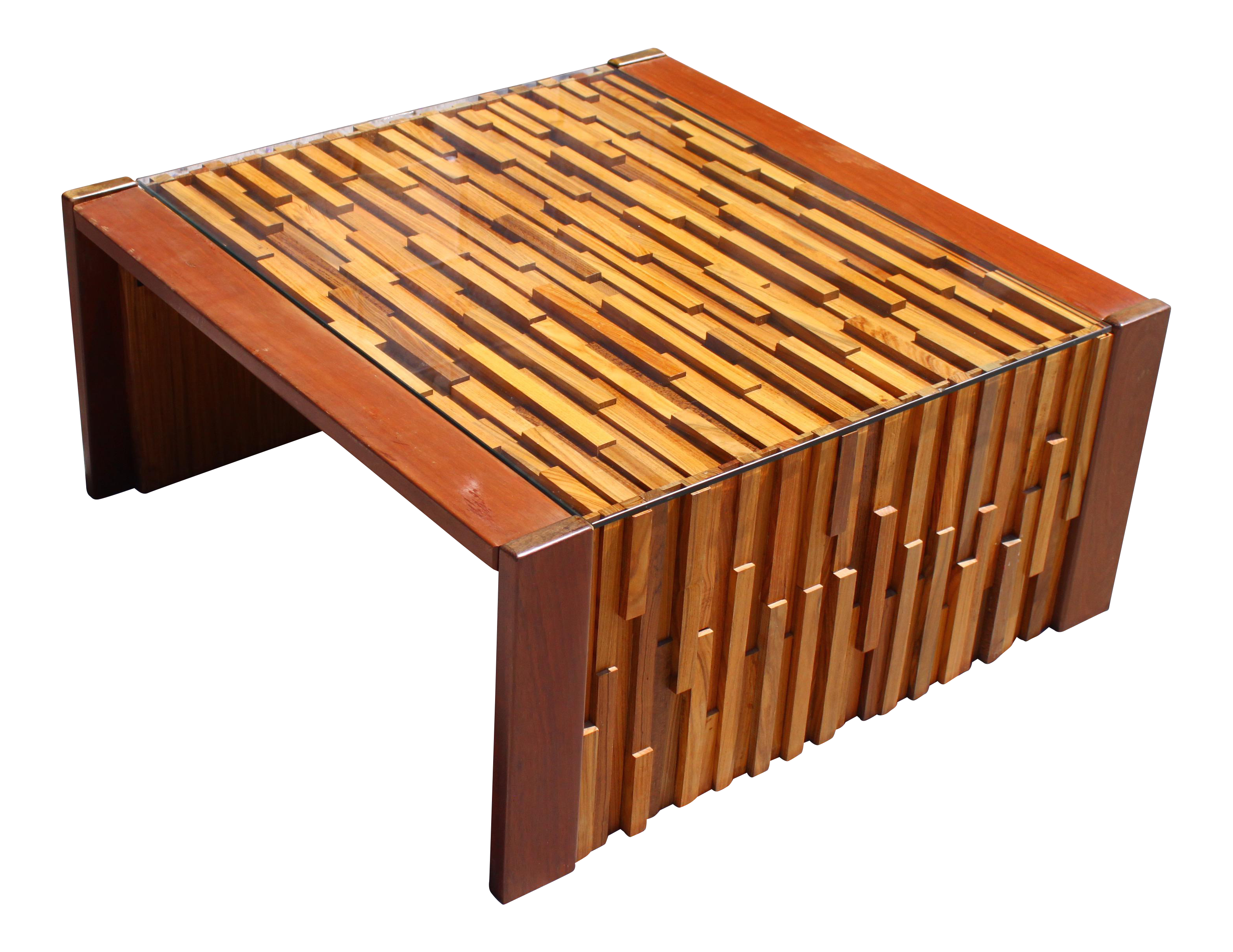 Percival Lafer Brutalist Patchwork Coffee Table