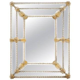 "Napoleon III Period ""Avventurina"" Gold Venetian Mirror"