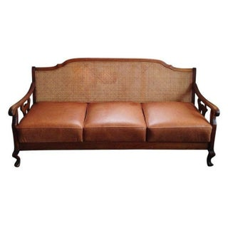 Art Nouveau Cane Back Sofa