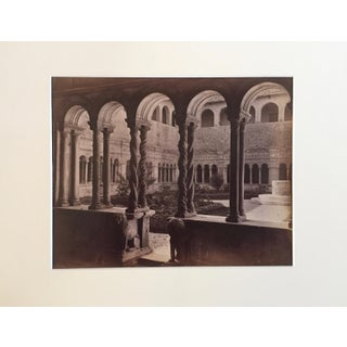 19th Century Antique Italian Courtyard Photograph
