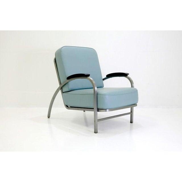 Retro vintage art deco design lounge chair chairish for Art deco style lounge