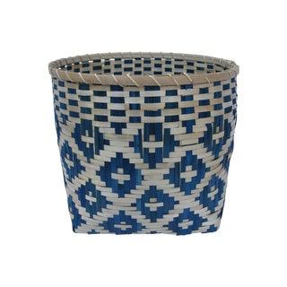 Indigo Tribal Basket