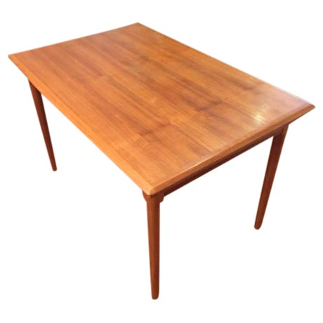 Mid-Century Modern Draw Leaf Dining Table - Image 1 of 6