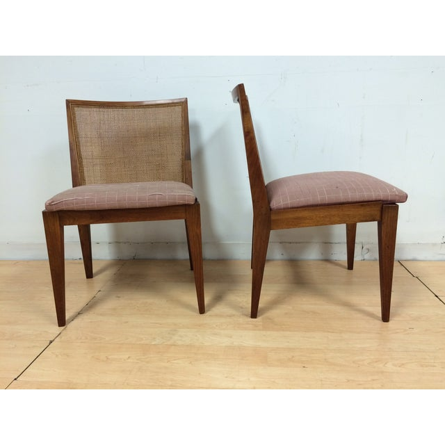 Edward Wormley Cane Back Chairs - A Pair - Image 2 of 11