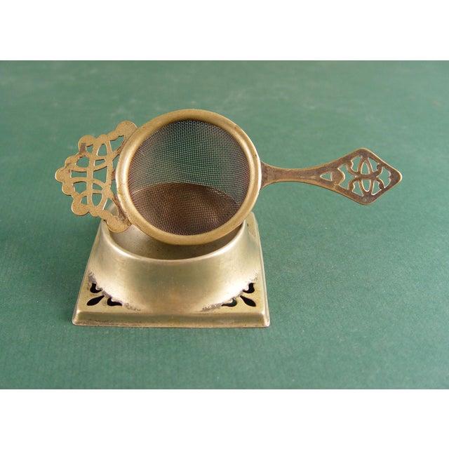 Vintage English Tea Strainer & Stand - Image 4 of 7