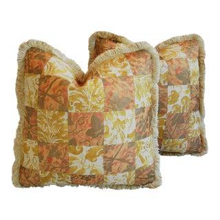 Italian Mariano Fortuny Edera & Lucrezia Pillows - a Pair