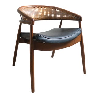 Vintage Mid-Century Curved Cane Back Chair