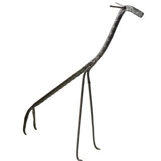 Vintage Black Iron Giraffe Sculpture