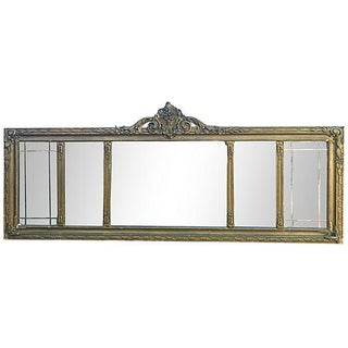 Antique Carved Wood Mantel Mirror