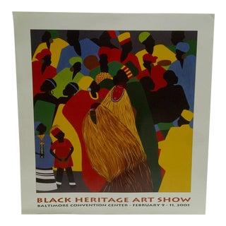 """Black Heritage Art Show"" Poster - Baltimore, Maryland, 2001"