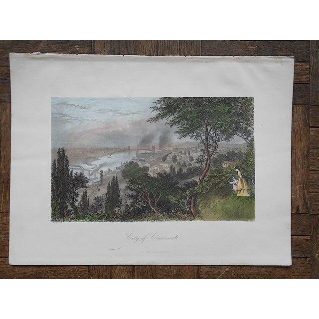 """Antique Engraving """"Cincinnati"""" - Image 2 of 3"""